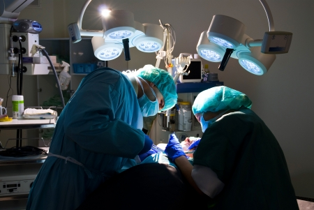 shooting is a real medical operating room to