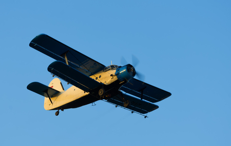 exterminating: Old airplane in the sky