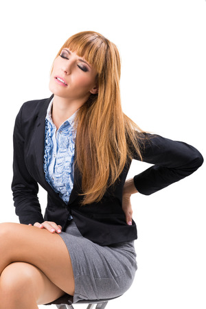 Businesswoman With Back Pain photo