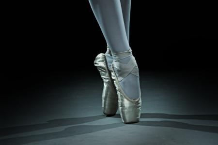 バレエ ダンサー シューズ - ゴールド 写真素材