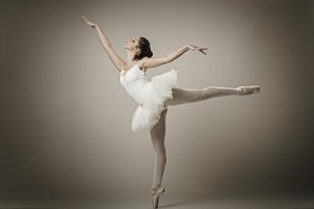 Portrait of the ballerina in ballet pose Stock Photo