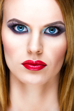 Special blond woman with beautiful make-up