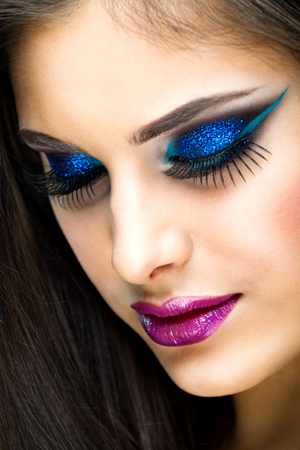 fantasy makeup: Sexy Beauty Girl with Fantasy makeup