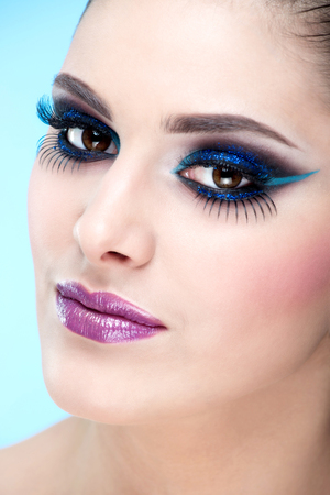 Extreme, casual makeup  Fashion model photo