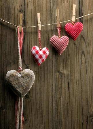 clothesline: Valentine Stock Photo