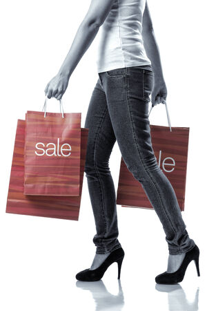 woman with the sale bags photo