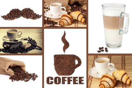 Coffee Montage Archivio Fotografico