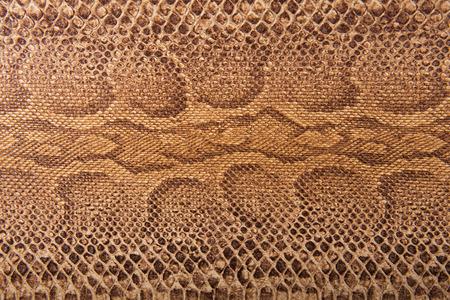 snake leather: Brown snake pattern imitation, background Stock Photo