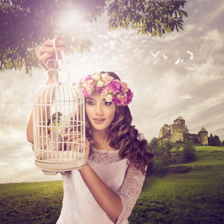castillos de princesas: La princesa y el birdie