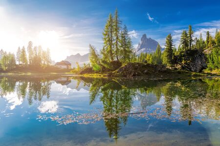 hayden: Dawn landscape of the Italian Dolomites