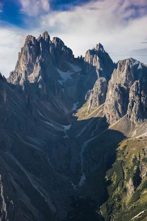barren: Italy, Dolomites - a wonderful landscape, the barren rocks Stock Photo
