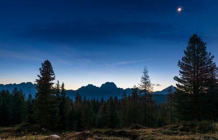 Dawn landscape of the Italian Dolomites