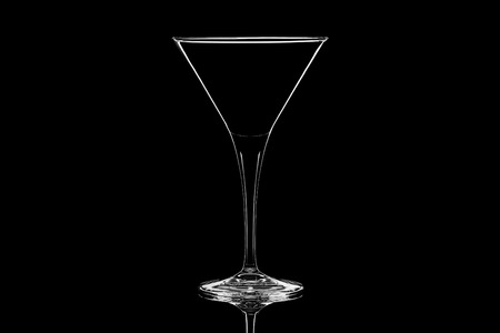 crystal background: Crystal cocktail glass isolated on black background