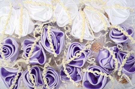 wedding accessories: Small wedding accessories isolated on white background