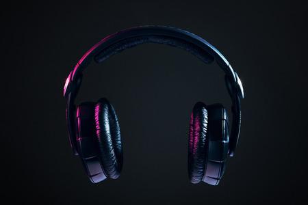dj headphones: Dj Headphones isolated on black background