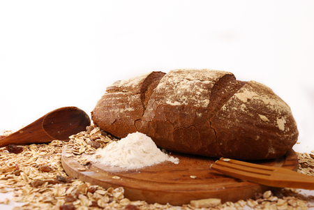 heathy: Whole wheat bread baked at home with bio ingredients, heathy lifestyle concept