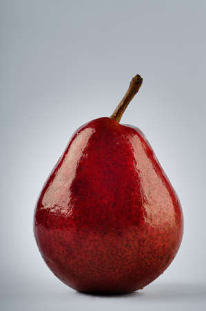 clipping: Red Pear with clipping path included isolated on white background
