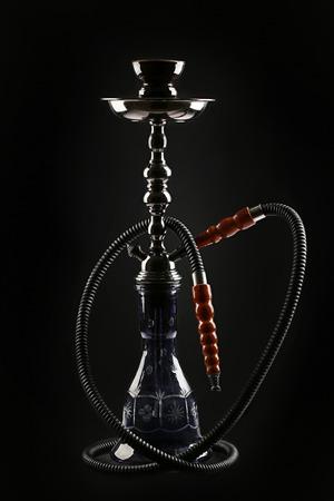 Hookah isolated on black background