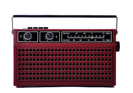 shortwave: 1980s retro radio, studio isolated front side Stock Photo