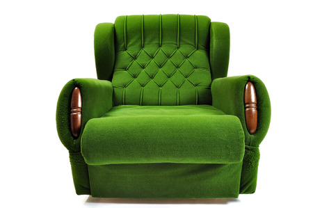 green sofa: Green Sofa isolated on white background