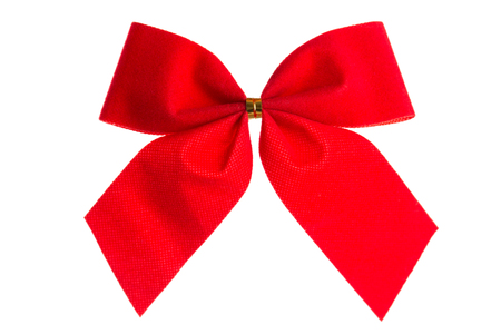 elegant christmas: Christmas bow red color isolated on white background
