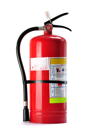 chemical hazard: Fire extinguisher isolated on white background