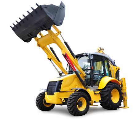 bulldozer: Modern Bulldozer, isolated on white background