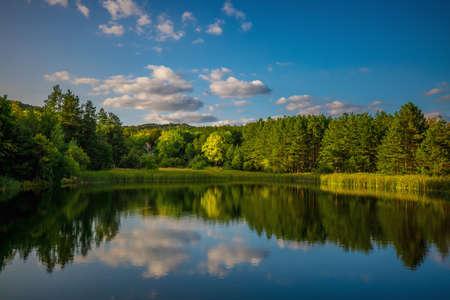 Mountain lake, panoramic view Reklamní fotografie