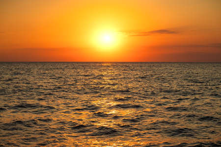 Orange sunrise over the sea