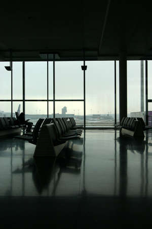 shot of an airport terminal. Color is subtle here. Taken in Zurich, Switzerland.