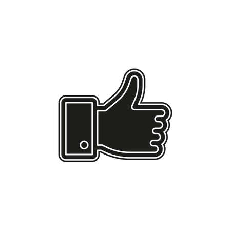 Simple Hand Thumb Up. Flat pictogram - simple icon