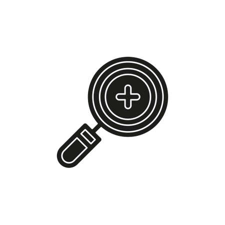 Simple Magnifying Glass Zoom. Flat pictogram - simple icon