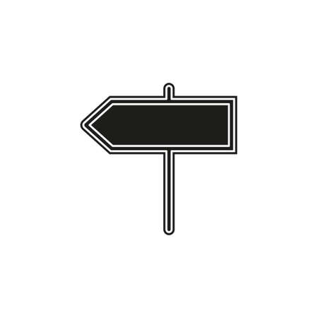 vector directions sign - street road directional symbol isolated, information icon. Flat pictogram - simple icon Stockfoto - 125870837