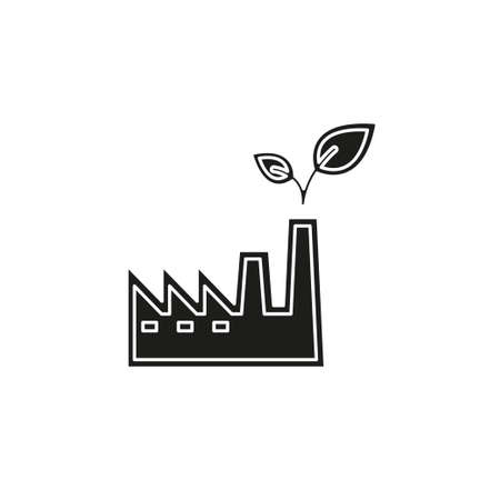 ECO power plants and facilities. Flat pictogram - simple icon
