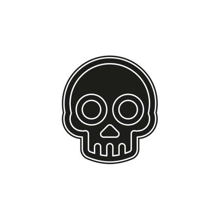 danger skull icon, vector skull crossbones symbol - danger sign. Flat pictogram - simple icon