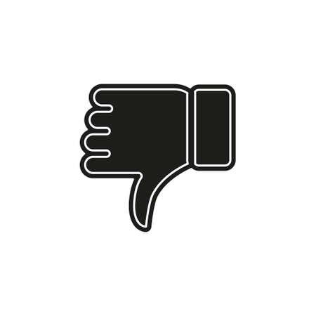 Dislike icon - thumb down button, bad symbol - negative illustration. Flat pictogram - simple icon Иллюстрация