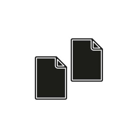 Copy or Duplicate document icon - web page symbol - office file format. Flat pictogram - simple icon