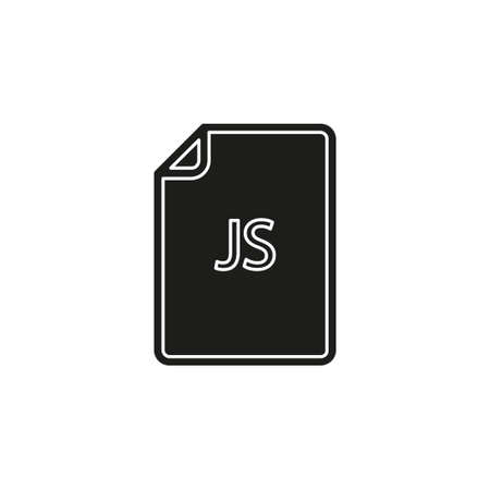 download JS document icon - vector file format symbol. Flat pictogram - simple icon