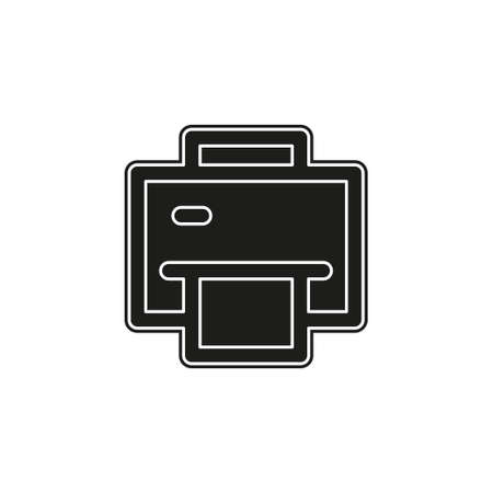 printer icon - print symbol - print paper or document sign. Flat pictogram - simple icon