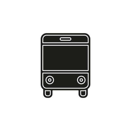 vector Bus illustration - shuttle Bus symbol, travel icon. Flat pictogram - simple icon Illustration