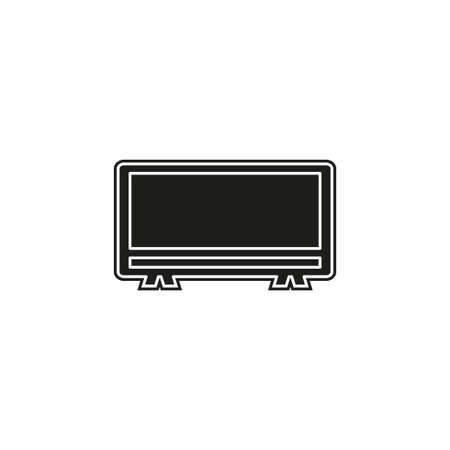 vector tv icon - television screen illustration - technology symbol, watch video. Flat pictogram - simple icon  イラスト・ベクター素材