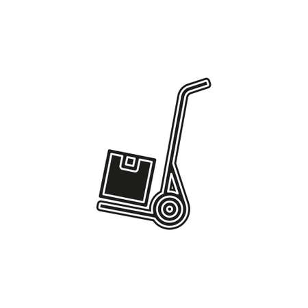 shipping inventory icon - vector cardboard - shipping package - vector carton box. Flat pictogram - simple icon