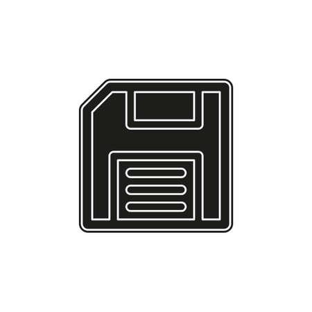 save icon - computer symbol - memory storage - information disc. Flat pictogram - simple icon