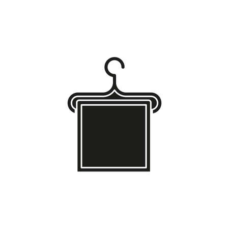 vector towel icon illustration isolated - bathroom sign symbol. Flat pictogram - simple icon