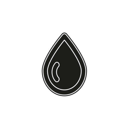 Oil drop isolated. Icon of drop of oil or honey, water. Flat pictogram - simple icon