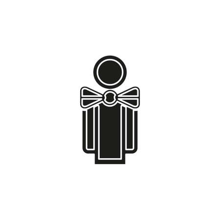silhouette waiter, waiter man illustration - cooking and catering vector avatar icon. Flat pictogram - simple icon