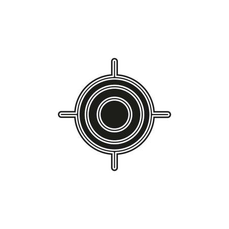 crosshairs icon - vector target aim, sniper symbol - weapon illustration. Flat pictogram - simple icon Illustration