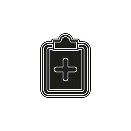 vector medical report, patient health record - medicine prescription, healthcare note. Flat pictogram - simple icon Stockfoto - 125444833