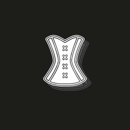 Korsett-Symbol Vektorgrafik