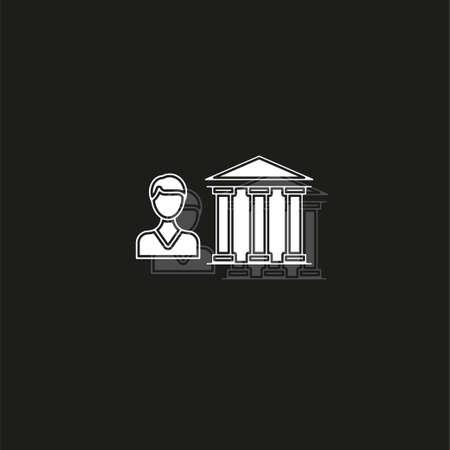 banking loan, money loans - piggy icon - finance and economy symbol. White flat pictogram on black - simple icon
